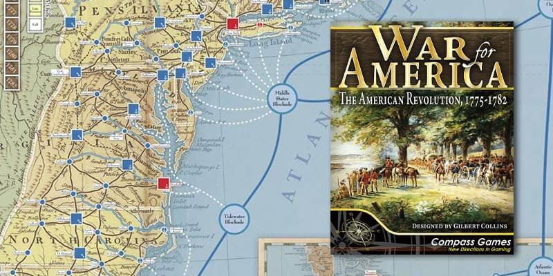 war for america american revolution box and map