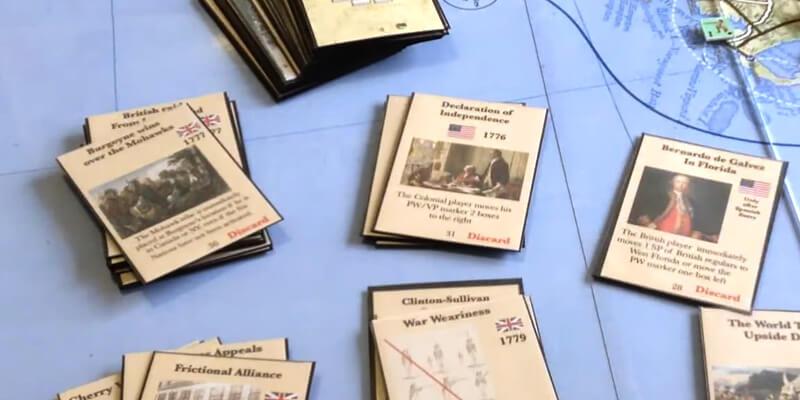 war for america american revolution cards