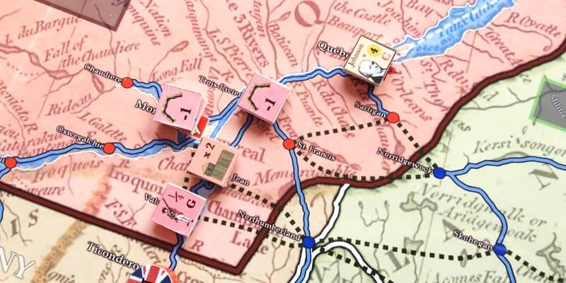 war for america american revolution map and counters