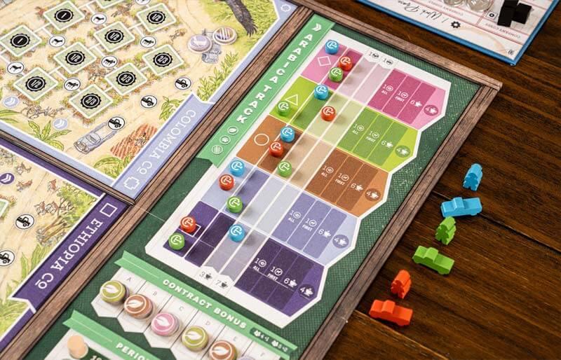 coffee traders board game arabica track