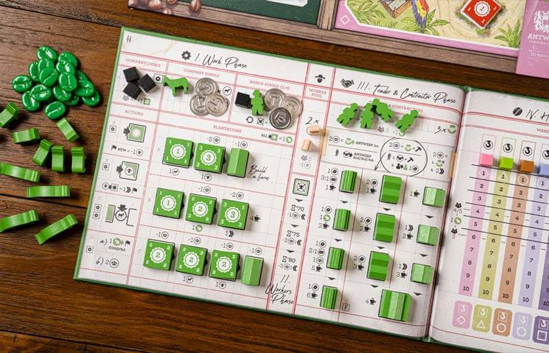 coffee traders board game player board