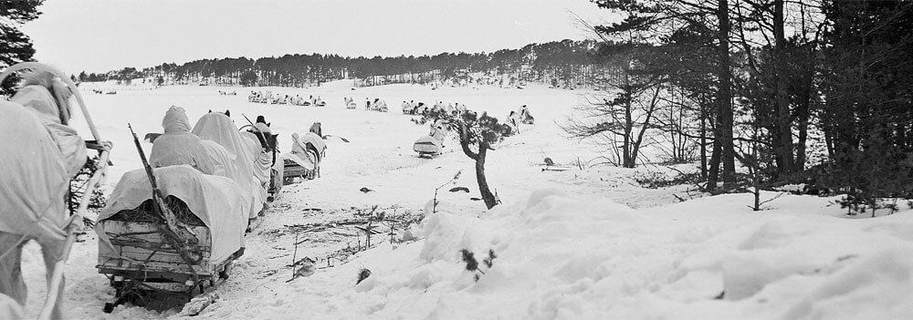 sisu - the battles for suursaari island finnish soldiers cross ice