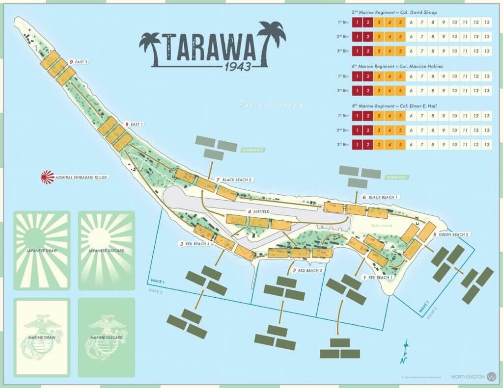 tarawa 1943 map board