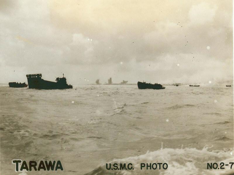 troop transports sailing to tarawa