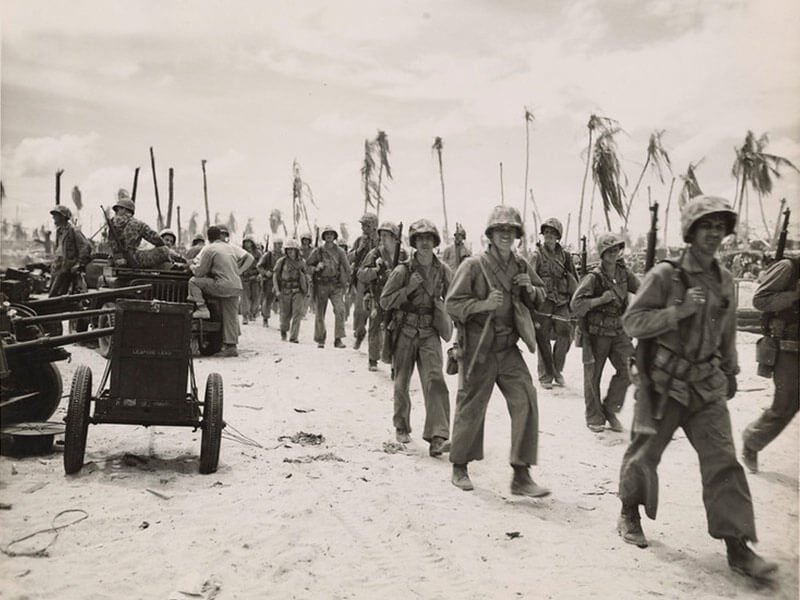 americans victorious on tarawa