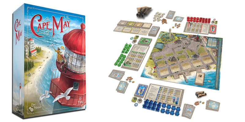 cape may by thunderworks games box and setup
