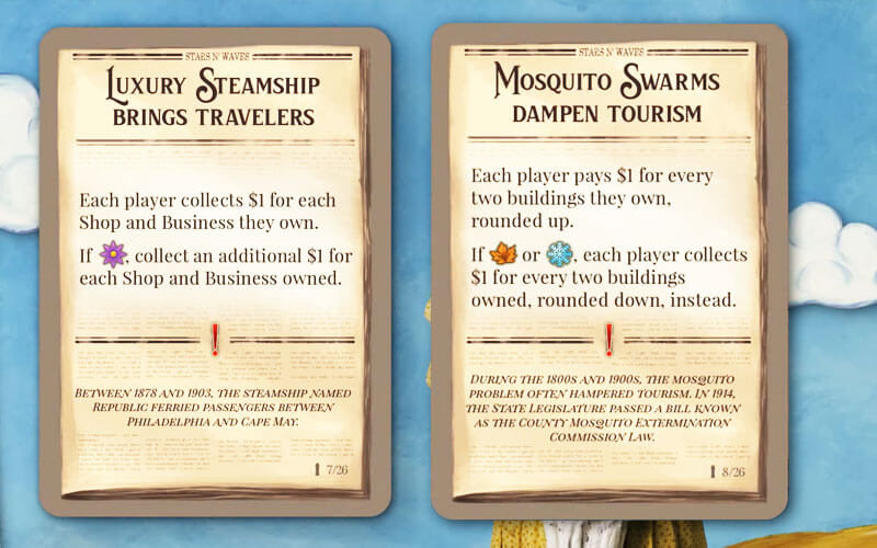 cape may by thunderworks games event cards