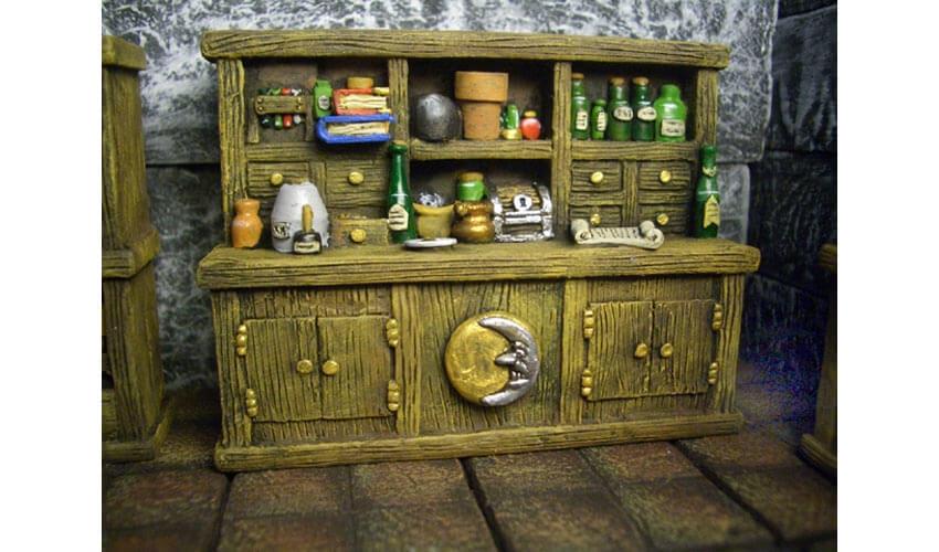 alchemist cabinet miniature furniture fantasy
