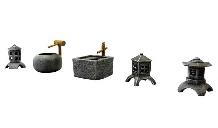 ziterdes terrain stone lantern bamboo fountain