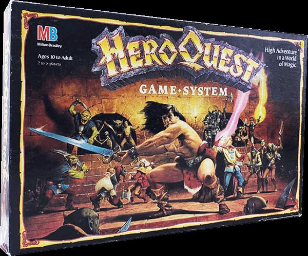 original heroquest box 1989 1990 milton bradley