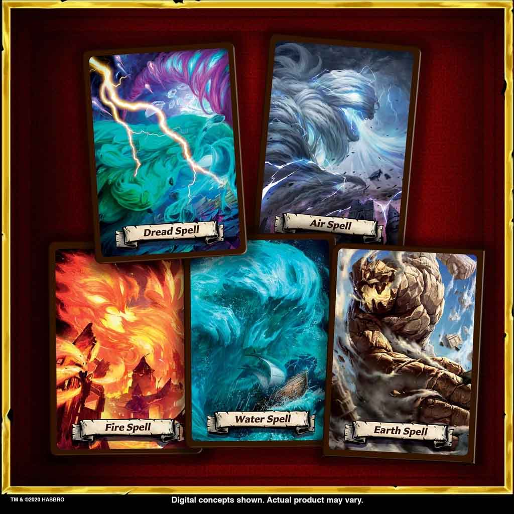 heroquest spell cards