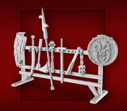 heroquest weapon rack